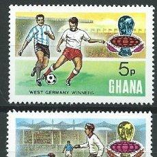 Sellos: 1974. GHANA. YVERT 520A/523A** MNH. COPA DEL MUNDO DE FÚTBOL. GANADORES. FOOTBALL WORLD CUP.. Lote 176246265