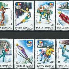 Sellos: 1992. RUMANÍA/ROMANIA. YVERT 3985A/3985H**MNH. JUEGOS OLÍMPICOS ALBERTVILLE. WINTER OLYMPIC GAMES.. Lote 176251043