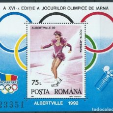 Sellos: 1992. RUMANÍA/ROMANIA. HB-S/S YT 215**MNH. JUEGOS OLÍMPICOS ALBERTVILLE. WINTER OLYMPIC GAMES.. Lote 176253212