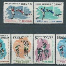 Sellos: 1965. REP. DEMOCRÁTICA CONGO. YVERT 580/5** MNH. JUEGOS DEPORTIVOS AFRICANOS. AFRICAN SPORTS GAMES.. Lote 176270582