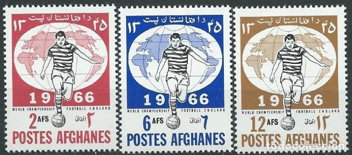 1966. AFGANISTÁN/AFGHANISTAN. YVERT 807/9** MNH. MUNDIAL FÚTBOL INGLATERRA'66. FOOTBALL WORLD CUP. (Sellos - Temáticas - Deportes)