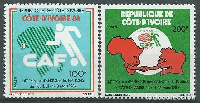 1984. COSTA DE MARFIL/IVORY COAST. YT 678/9**MNH. COPA DE AFRICA DE FÚTBOL. FOOTBALL. (Sellos - Temáticas - Deportes)