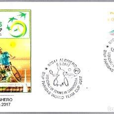Sellos: MATASELLOS CAMPEONATO DEL MUNDO TENIS EN SILLA DE RUEDAS. ALGHERO, ITALIA, 2017. Lote 176283455