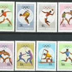 Sellos: 1968. RUMANÍA/ROMANIA. YVERT 2400/7**MNH. JUEGOS OLÍMPICOS MÉXICO. OLYMPIC GAMES.. Lote 176324184