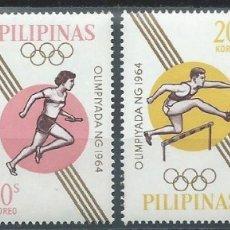 Sellos: 1964. FILIPINAS/PHILIPPINES. YT 605/8**MNH. JUEGOS OLÍMPICOS TOKIO/OLYMPIC GAMES. BALONCESTO, FÚTBOL. Lote 176328645