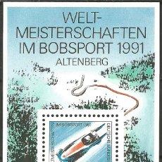 Sellos: ALEMANIA - FEDERAL - 1991 - CAMPEONATO DE DEPORTES DE BOB - ALTENBERG - NUEVO. Lote 178886046