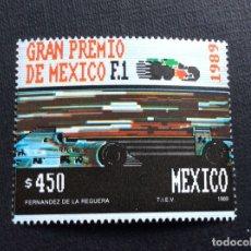 Sellos: AUTOMOVILISMO. MEXICO Nº YVERT 1284*** AÑO 1989. G.P.MEXICO DE F-1. Lote 179207328