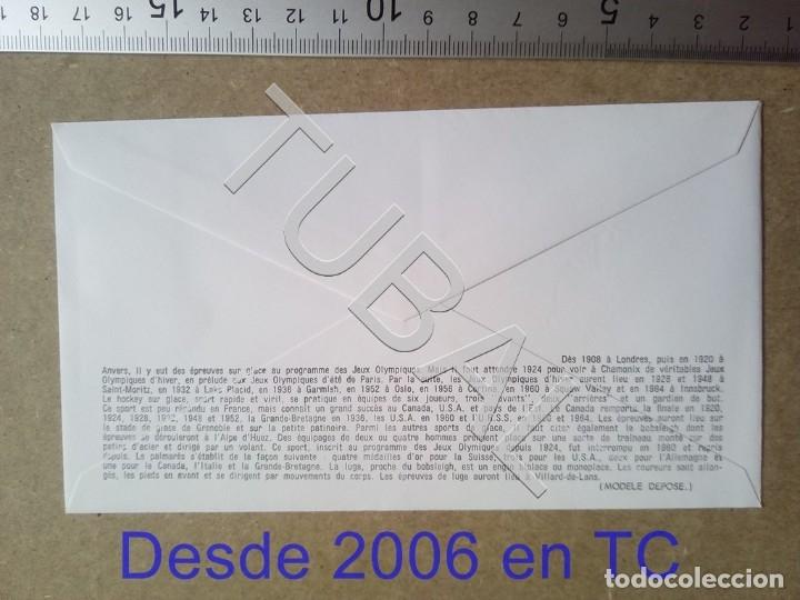 Sellos: TUBAL FRANCIA 1968 SOBRE PRIMER DIA 626 GRENOBLE HOCKEY OLIMPIADA INVIERNO ENVIO 70 CENT 2019 T1 - Foto 2 - 179248356
