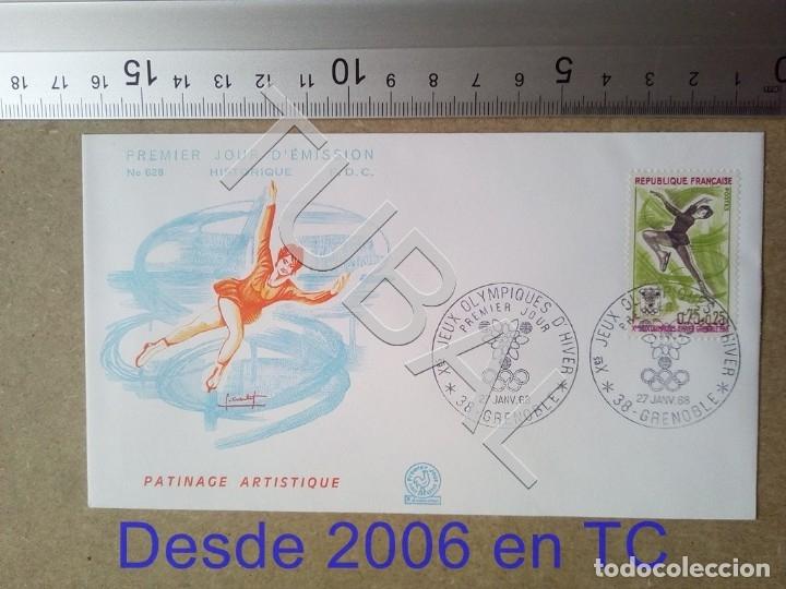 TUBAL FRANCIA 1968 SOBRE PRIMER DIA GRENOBLE PATINAJE 628 OLIMPIADA INVIERNO ENVIO 70 CENT 2019 T1 (Sellos - Temáticas - Deportes)