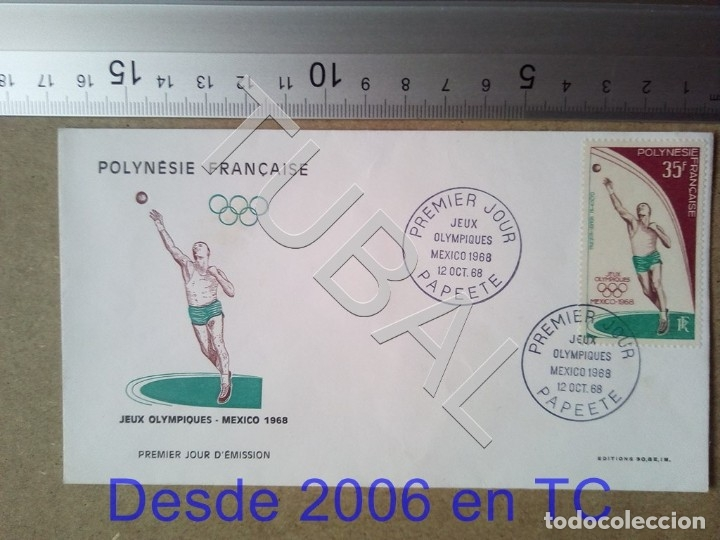TUBAL POLINESIA FRANCESA OLIMPIADA MEXICO 1968 SOBRE PRIMER DIA ENVIO 70 CENT 2019 T1 (Sellos - Temáticas - Deportes)