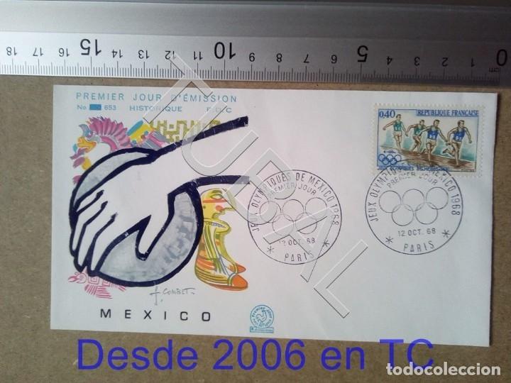 TUBAL FRANCIA OLIMPIADA MEXICO 1968 SOBRE PRIMER DIA 653 ENVIO 70 CENT 2019 T1 (Sellos - Temáticas - Deportes)