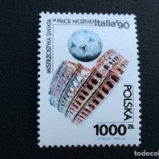 Timbres: POLONIA Nº YVERT 3073*** AÑO 1990. CAMPEONATO DEL MUNDO DE FUTBOL, EN ITALIA. Lote 206500048