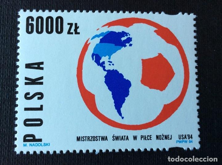 FUTBOL. POLONIA Nº YVERT 3281*** AÑO 1994. CAMPEONATO DEL MUNDO DE FUTBOL, EN ESTADOS UNIDOS (Sellos - Temáticas - Deportes)