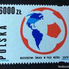 Sellos: FUTBOL. POLONIA Nº YVERT 3281*** AÑO 1994. CAMPEONATO DEL MUNDO DE FUTBOL, EN ESTADOS UNIDOS. Lote 180284625