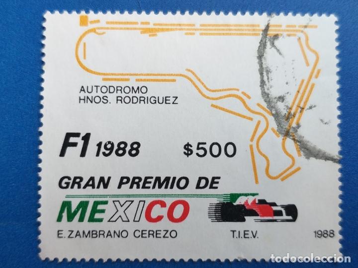 AUTOMOVILISMO. SELLO DE MEXICO. AÑO 1988. GRAN PREMIO DE MEXICO DE F-1 (Sellos - Temáticas - Deportes)
