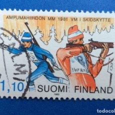 Sellos: SELLO DE FINLANDIA. YVERT 837. AÑO 1983. DEPORTE. CAMPEONATO DEL MUNDO DE BIATLON. Lote 180516785