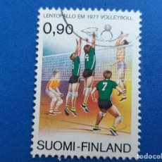 Sellos: SELLO DE FINLANDIA. YVERT 779. AÑO 1977. DEPORTE. CAMPEONATO DE EUROPA DE VOLEIBOL. Lote 180516856