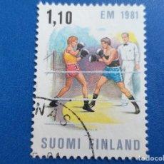 Sellos: SELLO DE FINLANDIA. YVERT 842. AÑO 1980. DEPORTE. CAMPEONATO DE EUROPA DE BOXEO . Lote 180516880