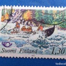 Sellos: SELLO DE FINLANDIA. YVERT 887. AÑO 1983. DEPORTE. CANOA . Lote 180516911