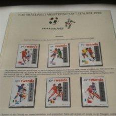 Sellos: RWANDA- RUANDA 1990 SELLOS CONMEMORATIVOS DE LA COPA MUNDIAL DE FUTBOL ITALIA 90- FIFA. Lote 181527901