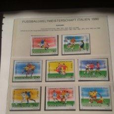 Sellos: RUMANIA 1990 HOJA BLOQUE SELLOS CONMEMORATIVOS DE LA COPA MUNDIAL DE FUTBOL ITALIA 90- FIFA. Lote 181528202