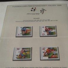 Sellos: BULGARIA 1990 SELLOS CONMEMORATIVOS DE LA COPA MUNDIAL DE FUTBOL ITALIA 90- FIFA. Lote 181606458