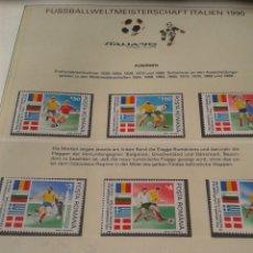 Sellos: BULGARIA 1990 HOJA BLOQUE DE SELLOS CONMEMORATIVOS DE LA COPA MUNDIAL DE FUTBOL ITALIA 90- FIFA. Lote 181607361