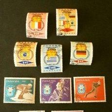 Sellos: 2 SERIES DE SELLOS DE PANAMA - TEMA DEPORTES: CAMPEONATO MUNDIAL FUTBOL 1966 - JUEGOS OLIMPICOS 1968. Lote 182219572