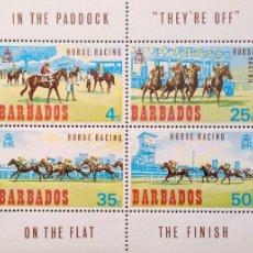 Sellos: BARBADOS. HB 1 CARRERAS HÍPICAS. 1969. SELLOS NUEVOS Y NUMERACIÓN YVERT. Lote 182238565