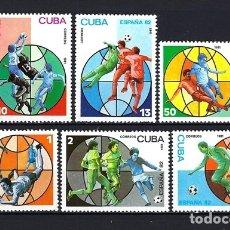 Timbres: 1981 CUBA - DEPORTES - COPA MUNDIAL DE FÚTBOL ESPAÑA '82 - NUEVOS MNH**. Lote 182472030