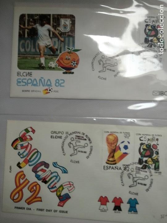 1982 COPA MUNDIAL ESPAÑA 82 (EDIFIL 2644/45) 2 SOBRES PRIMER DIA ELCHE NARANJITO FUTBOL (Sellos - Temáticas - Deportes)