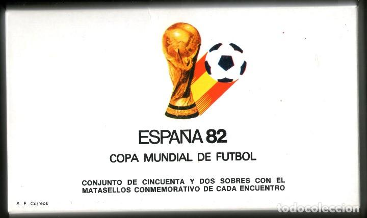 52 SOBRES CONMEMORATIVOS FUTBOL ESPAÑA 82 EMITIDOS POR CORREOS (Sellos - Temáticas - Deportes)