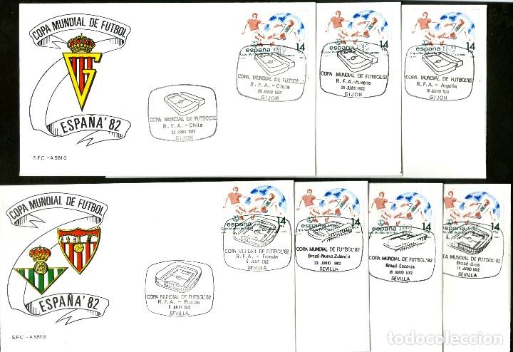 Sellos: 52 SOBRES CONMEMORATIVOS FUTBOL ESPAÑA 82 EMITIDOS POR CORREOS - Foto 4 - 183709845