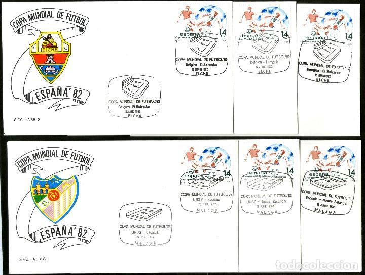 Sellos: 52 SOBRES CONMEMORATIVOS FUTBOL ESPAÑA 82 EMITIDOS POR CORREOS - Foto 5 - 183709845
