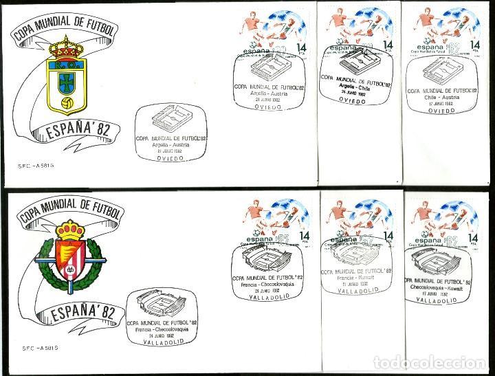 Sellos: 52 SOBRES CONMEMORATIVOS FUTBOL ESPAÑA 82 EMITIDOS POR CORREOS - Foto 7 - 183709845