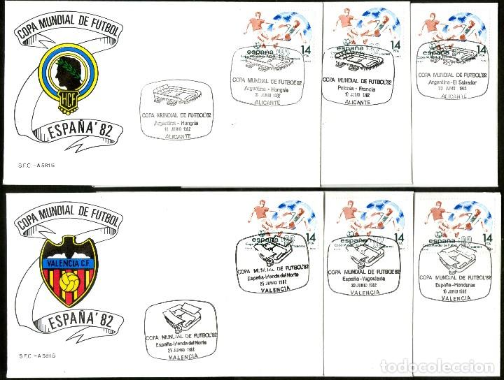 Sellos: 52 SOBRES CONMEMORATIVOS FUTBOL ESPAÑA 82 EMITIDOS POR CORREOS - Foto 8 - 183709845