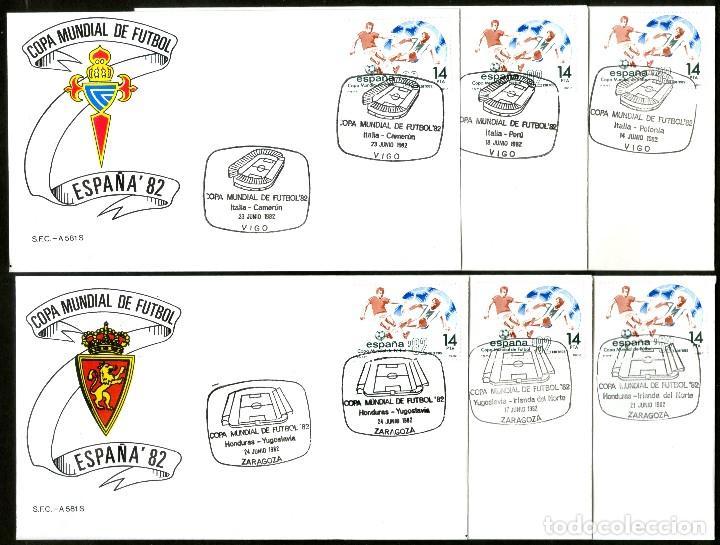 Sellos: 52 SOBRES CONMEMORATIVOS FUTBOL ESPAÑA 82 EMITIDOS POR CORREOS - Foto 9 - 183709845