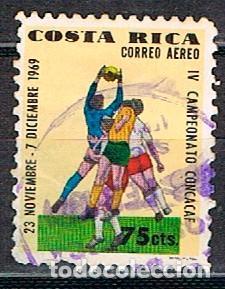 COSTA RICA Nº 775, FÚTBOL. IV CAMPEONATO DE LA CONCACAF, USADO (Sellos - Temáticas - Deportes)