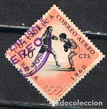 COSTA RICA Nº 582, BOXEO, JUEGOS OLIMPICOS DE ROMA, USADO (Sellos - Temáticas - Deportes)