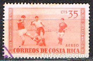 COSTA RICA Nº 558, CAMPEONATO PANAMERICANO DE FUTBOL, USADO (Sellos - Temáticas - Deportes)