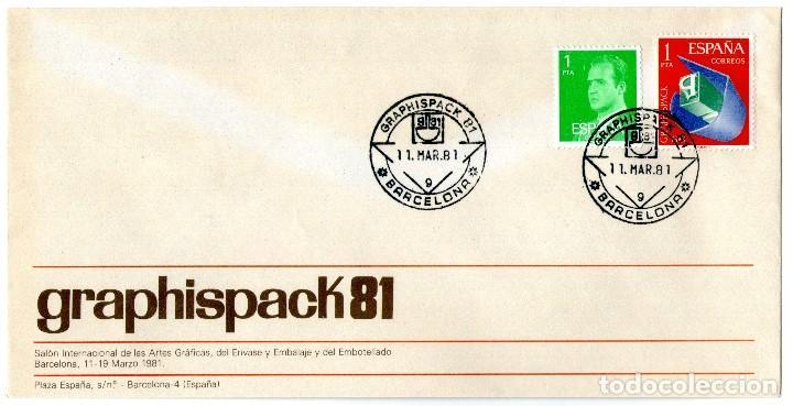 Sellos: 5 SOBRES GRAPHISPACK CON MATASELLOS CONMEMORATIVOS AÑOS 1970-72-74-78 Y 81 - Foto 3 - 183913036