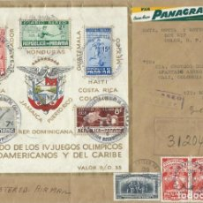 Francobolli: 1957. PANAMÁ. SOBRE CIRCULADO A COLOMBIA. YT HB/SS 1. BEISBOL. FÚTBOL. NATACIÓN. BALONCESTO. BOXEO.. Lote 184065857
