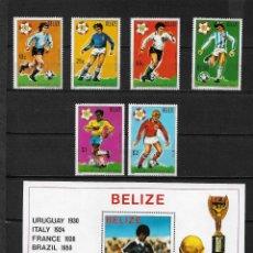 Sellos: BELIZE 1981 FUTBOL ESPAÑA 82 - 2 FOTOS ** - 17/18. Lote 186080688