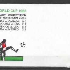 Sellos: ESTADOS UNIDOS 1982 FUTBOL ESPAÑA 82 - 191. Lote 186213736