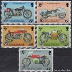 Sellos: ISLA DE MAN 1987 IVERT 334/8 *** 80º ANIV. CARRERA MOTOCICLISTA - TOURIST TROPHY - DEPORTES - MOTOS. Lote 189732122