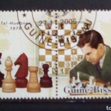 Francobolli: AJEDREZ MIKHAIL TAL SELLOS USADOS DE GUINEA BISSAU. Lote 190160297
