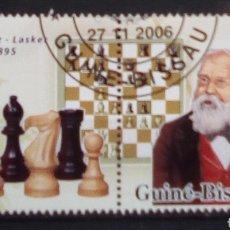 Francobolli: AJEDREZ WHILHEIM STEIRNITZ SELLOS USADOS DE GUINEA BISSAU. Lote 190160807