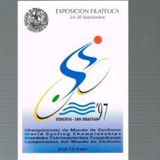 Sellos: TARJETA DEL CORREO 60-1, CAMPEONATO DEL MUNDO DE CICLISMO 1997 EN SAN SEBASTIAN, SIN USAR. Lote 190277230