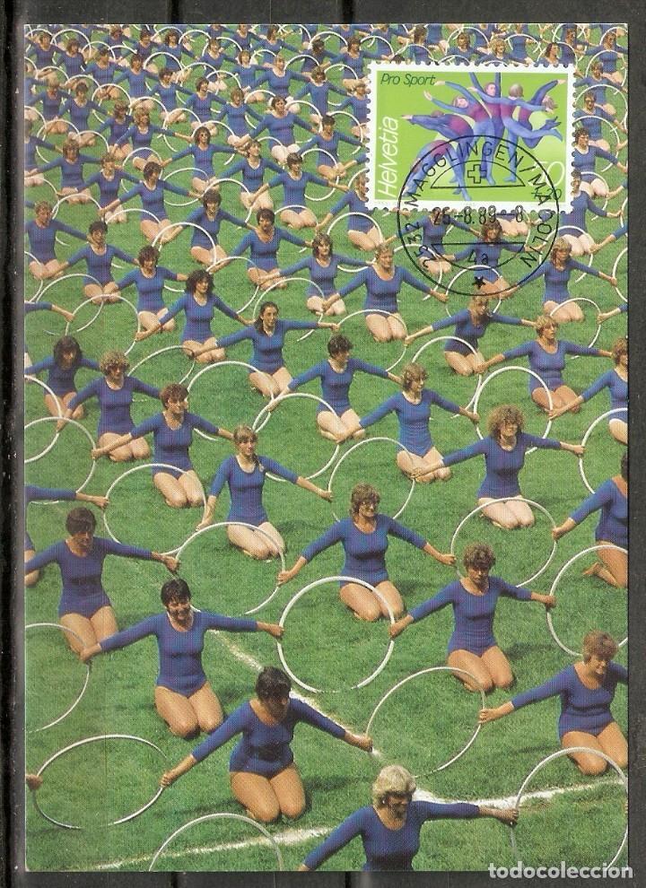 SUIZA.1989. CARTA MÁXIMA . DEPORTES (Sellos - Temáticas - Deportes)