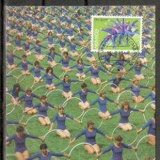 Sellos: SUIZA.1989. CARTA MÁXIMA . DEPORTES. Lote 190444075